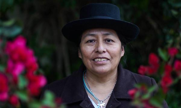 Melania Canales, lideresa quechua
