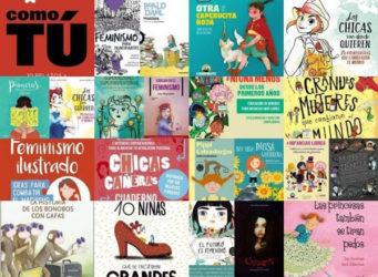 Collage con portadas de libros