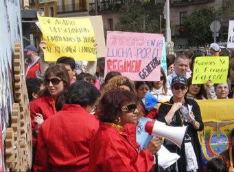 una manifestación de trabajadoras del hogar