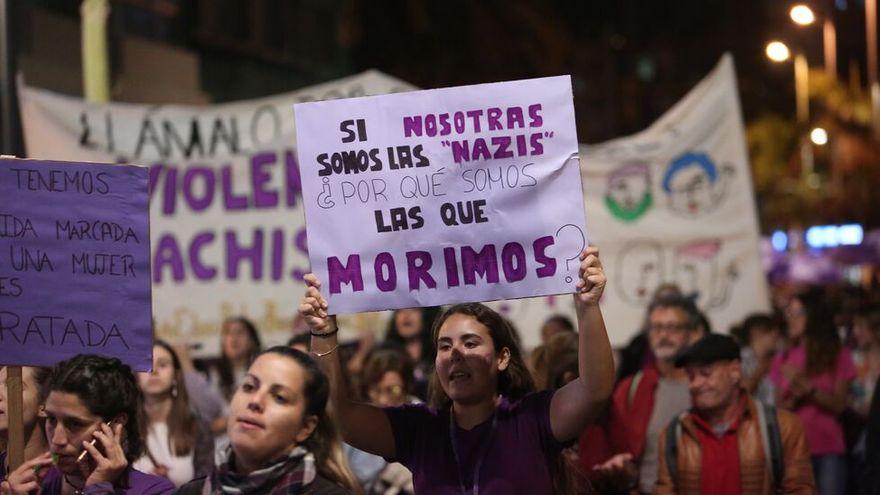 imagen de una manifestación feminista