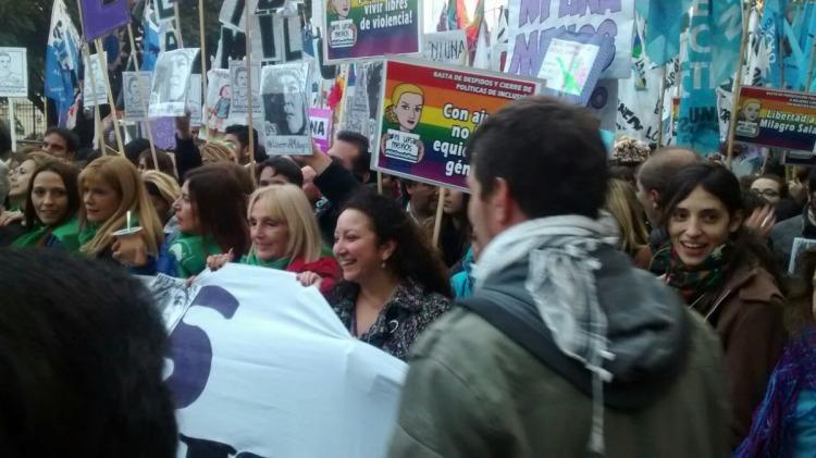 Imagen de la marcha Ni Una Menos