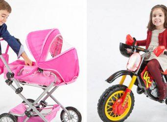 Catálogo de juguetes con roles inversos