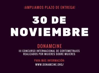 Cartel del concurso Dona'm Cine