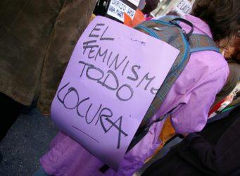 Pancarta sobre feminismo