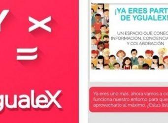 Imagen del menú de la aplicación Ygualex