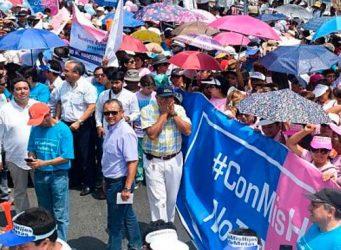 Imagen de una manifestación en Perú