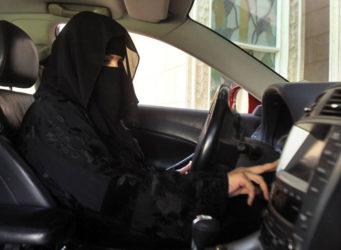 imagen de una conductora completamente cubierta