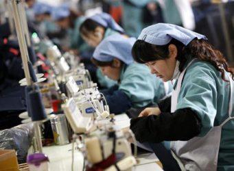 una mujer china en una fábrica