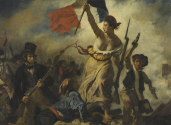 Cuadro Libertad guiando al pueblo de Delacroix