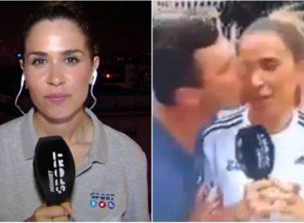 dos imágenes de la periodista María Gómez