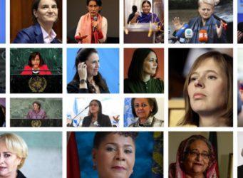 imagen montada con la foto de varias líderes mundiales