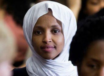 Imagen de la congresista musulmana Ilhan Omar