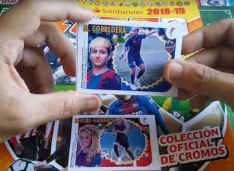 Álbum de futbolistas elaborado por María Vázquez