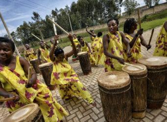 imagen del grupo de percusionistas