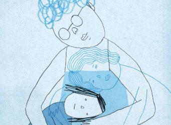 dibujo de una abuela y una nieta