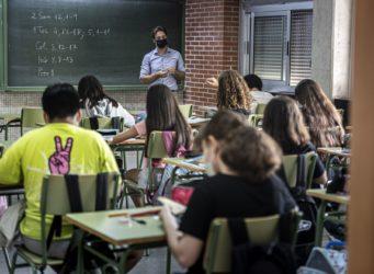 Una clase de un instituto de Valencia